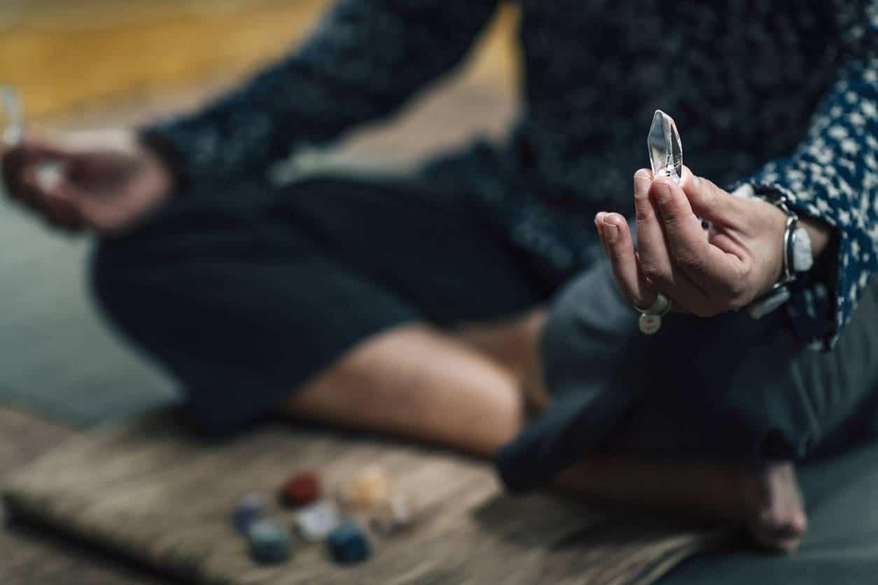 méditation pierre